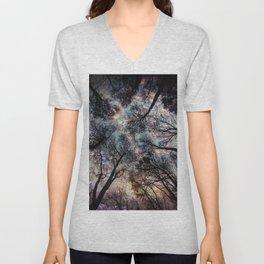 Starry Sky in the Forest Unisex V-Neck