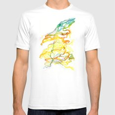 Iceland Abstracted #6 Mens Fitted Tee White MEDIUM