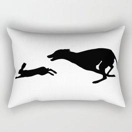 Death Inspires Me Like a Dog Inspires a Rabbit (Black on White) Rectangular Pillow