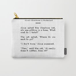 Travel Quote for Wanderers Carry-All Pouch