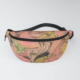 Butterfly Wings - Coral Pink Fanny Pack