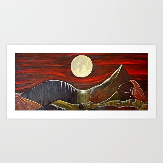 Gaia and Luna Grande Art Print
