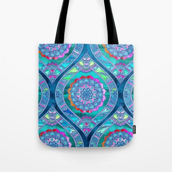 Radiant Boho Color Play Tote Bag