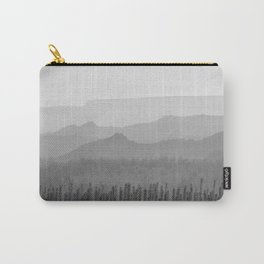 Sunrise at the misty mountains. Bad lands. WB Carry-All Pouch