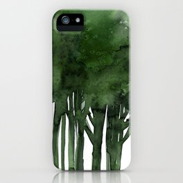 Tree Impressions No.1C by Kathy Morton Stanion iPhone Case