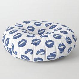 Navy Lips Floor Pillow