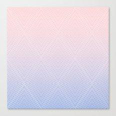 Diamonds (RoseQuartzSerenity Fade) Canvas Print