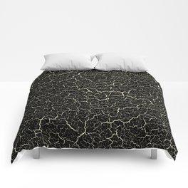 Black Crackle Comforters