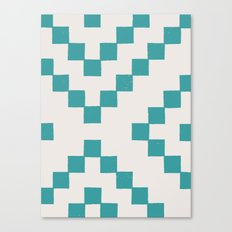 Tiles - in Teal Canvas Print