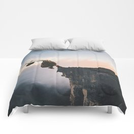 Up in the Clouds-Surreal Levitation Off a Cliff Comforters