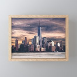 Dramatic City Skyline - NYC Framed Mini Art Print
