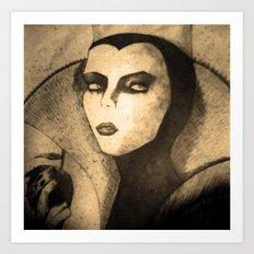 evil queen -snow white Art Print