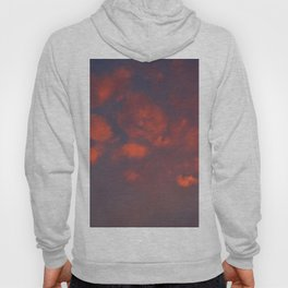 Red clouds shining at sunset Hoody
