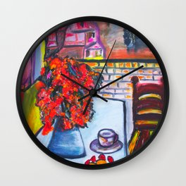 Room With A View  #society6 #decor #buyart Wall Clock