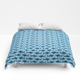 Pattern: Great White Shark  ~ Light Blue ~ (Copyright 2015) Comforters