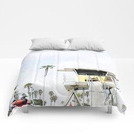 San Diego Beach Lifeguard Hut Comforters
