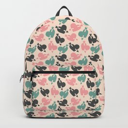 Pastel Love Hearts Seamless Pattern 049#001 Backpack