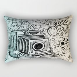 Say Cheese ( Old Camera / Photography / Fun ) Rectangular Pillow
