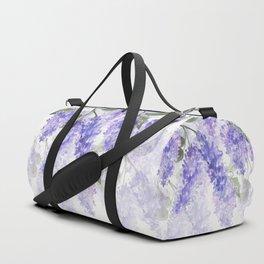 Purple Wisteria Flowers Duffle Bag