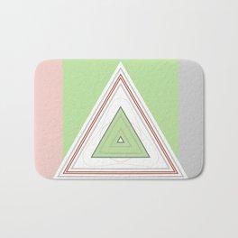 Mint Green Pink Pastel Geometric Badematte
