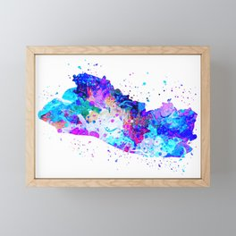 El Salvador Watercolor Map Framed Mini Art Print