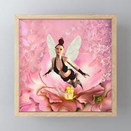 Flying fairy Framed Mini Art Print