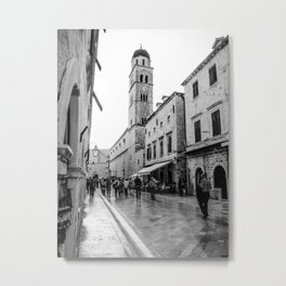 European City Street | Charming Architecture Dome Tower Skyline Building Cityscape Streets Metal Print