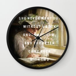 never without a book Wall Clock