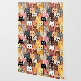Cats Pattern Wallpaper