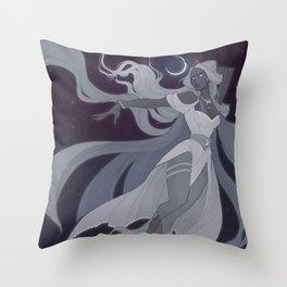 Selene White Throw Pillow