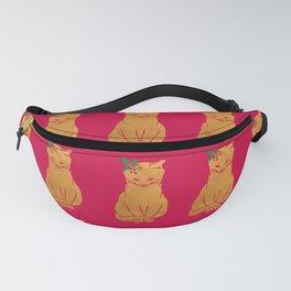 Happy Holiday Cat Fanny Pack