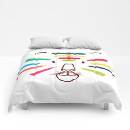 Tiger With Colorful Stripes Comforters