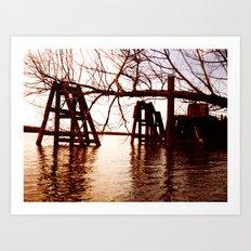 Rusted River Art Print