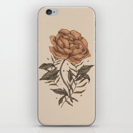 Peony and Ferns iPhone Skin