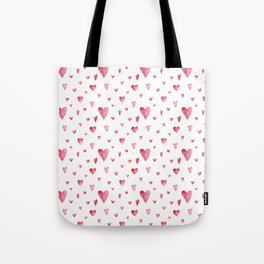 Watercolor print with hearts Tote Bag