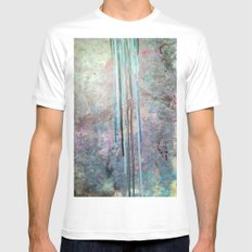 Free Falling Mens Fitted Tee MEDIUM White