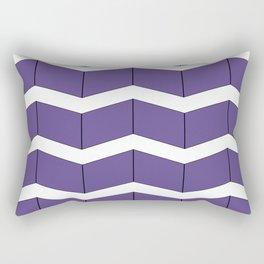 Violet Zig Zag Rectangular Pillow