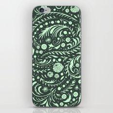Mint Flora Swirl iPhone & iPod Skin