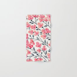 Cherry Blossoms – Pink & Black Palette Hand & Bath Towel