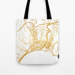NICE FRANCE CITY STREET MAP ART Tote Bag