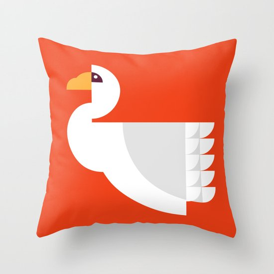 Geometric swan Throw Pillow