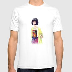 Fashion Illustration . Oriental Girl Mens Fitted Tee White SMALL
