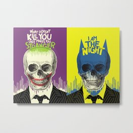 The Stranger + The Night | Double Feature Metal Print