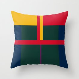 vintage, pattern, primary, colors, Throw Pillow