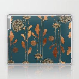 Art Deco Copper Flowers Laptop & iPad Skin