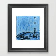 Drip. Drop. Framed Art Print