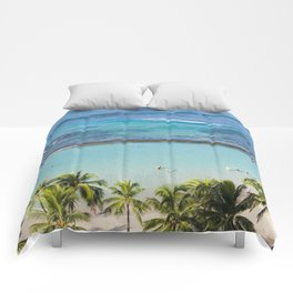 Waikiki Aerial // Vertical Comforters
