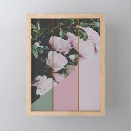 Pink Roses Palette Framed Mini Art Print