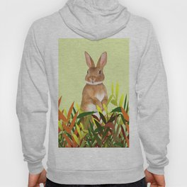 Bunny sitting between leaves Hoody