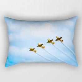 aircraft vintage airplanes aviation Rectangular Pillow